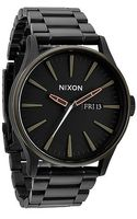 Nixon The Sentry Sterling Silver Watch - Lyst