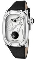 Glam Rock Womens Monogram Black Onyx 112 Ctw White Dial Black Saffiano Leather Glamrock Watch - Lyst