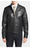 Topman Retro Leather Biker Jacket - Lyst