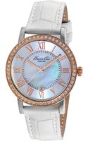 Kenneth Cole New York Womens White Leather Strap Watch 36mm - Lyst