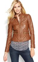 Michael Kors Quilted Leather Motorcycle Jacket - Lyst