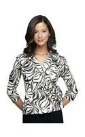 Alex Evenings Printed Side-tie Blouse - Lyst