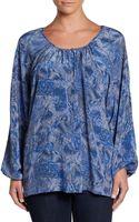 Rachel Zoe Terri Printed Silk Blouse - Lyst