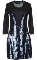 Markus Lupfer Sequin Embellished Front Dress - Lyst