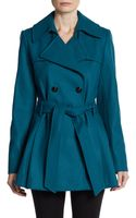 Via Spiga Scarpa Double Breasted Belted Coat - Lyst