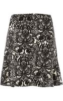Episode Lace Printed Crepe Skirt - Lyst