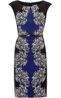 Linea Cap Sleeve Mix Print Woven Dress - Lyst
