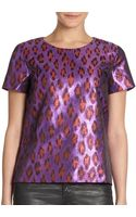 French connection Disco Leopardprint Top - Lyst