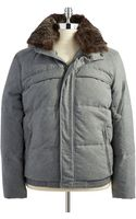 Marc New York Puffer Coat with Genuine Fur Collar - Lyst