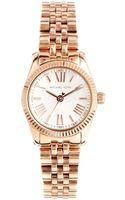 Michael Kors Lexington Rose Gold Watch - Lyst