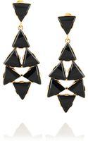 Oscar de la Renta Goldplated Crystal Clip Earrings - Lyst