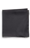 Saks Fifth Avenue Black Silk Dotted Pocket Square - Lyst