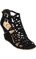 Jessica Simpson Rabah Laser Cut Wedge Sandals - Lyst