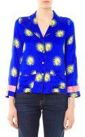 Raphaëlla Riboud George Blason-print Silk Shirt - Lyst