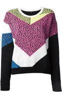 Tibi Intarsia Spotted Knit Sweater - Lyst