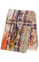Etro Paisley Printed Linen Gauze Scarf - Lyst