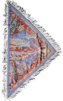 Etro Printed Cashmere Chain Fringe Scarf - Lyst