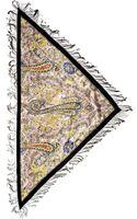 Etro Printed Silk Jacquard Chain Fringe Scarf - Lyst