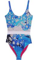 Preen By Thorton Bregazzi Lk14 Floral Printed Swimsuit - Lyst