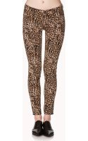 Forever 21 Jungle Leopard Skinny Jeans - Lyst