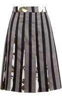 Marni Striped Duchesse Satin Skirt - Lyst