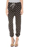 3.1 Phillip Lim Polka Dot Sweatpants - Lyst