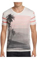 Cohesive & Co. Striped Scenic Print Cotton Tee - Lyst