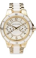Saks Fifth Avenue Black Goldtone Ceramic Bracelet Watch - Lyst