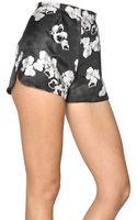 Giambattista Valli Floral Printed Silk Gazar Shorts - Lyst