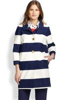 Kate Spade Franny Striped Coat - Lyst