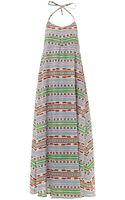 Mara Hoffman Tiger Stripe Print Maxi Dress - Lyst
