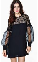 Nasty Gal Coquette Lace Dress - Lyst