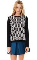 Tibi Sporty Mesh Sweater - Lyst