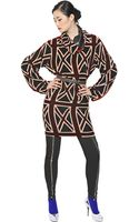 Jean Paul Gaultier Union Jack Devore Viscose Velvet Dress - Lyst