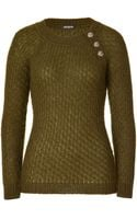 Balmain Wool Pullover - Lyst