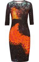 Peter Pilotto J Printed Cady Dress - Lyst