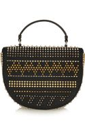 Christian Louboutin Panettone Spiked Texturedleather Shoulder Bag - Lyst