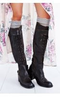 Jeffrey Campbell Laceup Tall Boot - Lyst
