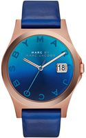 Marc By Marc Jacobs Womens The Slim Skipper Blue Leather Strap Watch 36mm - Lyst