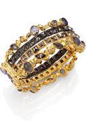 Alexis Bittar Elements Phoenix Labradorite Crystal Large Stacked Bracelet - Lyst