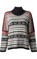 Kenzo Vintage Fair Isle Knit Sweater - Lyst