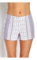 Forever 21 Embroidered Woven Shorts - Lyst