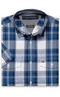 Tommy Hilfiger Custom Fit Short Sleeve Plaid Shirt - Lyst