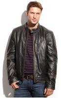 Marc New York Radford Distressed Leather Moto Jacket - Lyst