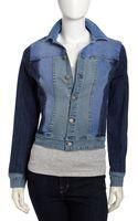 Fade To Blue Patchwork Denim Jacket - Lyst