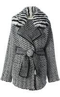 Fendi Knitted Oversize Coat - Lyst