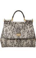 Dolce & Gabbana Laceprint Medium Miss Sicily Bag - Lyst