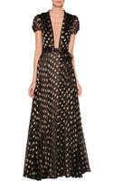 Diane Von Furstenberg Chiffon Star Print Dress - Lyst