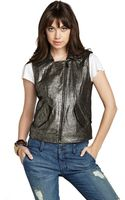BCBGeneration Metallic Vest - Lyst