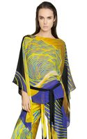 Roberto Cavalli Printed Silk Georgette Caftan - Lyst